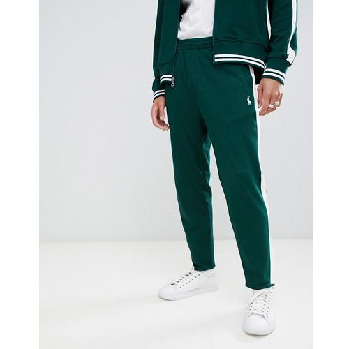 Polo Ralph Lauren player logo slim fit jogger zip hem side tape in dark green - Green, kolor zielony
