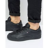 club c leather trainers in black ar0454 - black marki Reebok