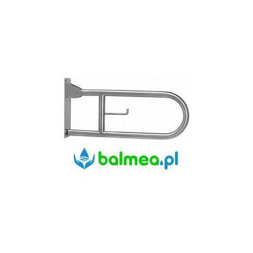 Faneco Poręcz uchylna dla niepełnosprawnych 600 mm stal nierdzewna matowa