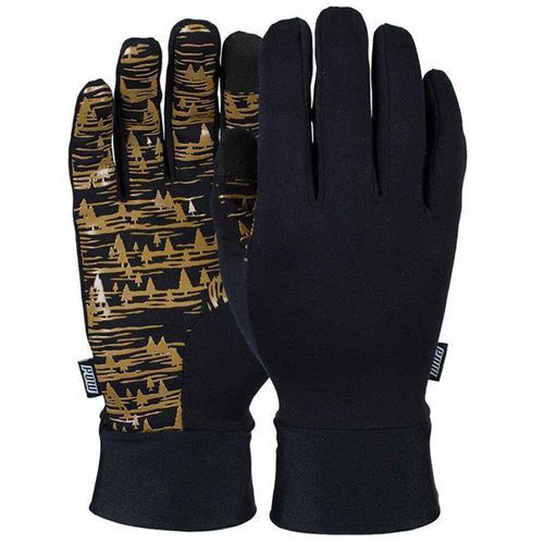 Rękawice snowboardow - poly pro tt liner gold (short) (gld) rozmiar: s marki Pow