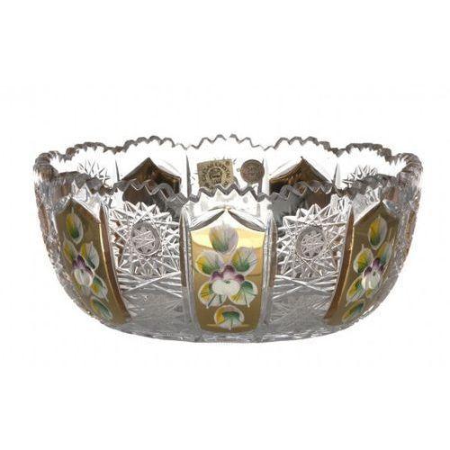 31224 półmisek emalia gold, szkło kryształowe bezbarwne, średnica 155 mm marki Caesar crystal