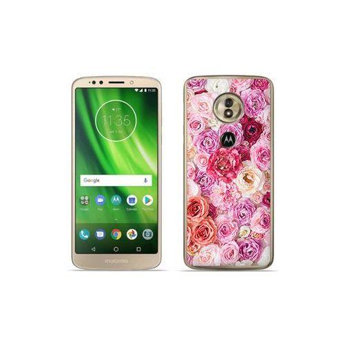 Motorola moto g6 play - etui na telefon foto case - jasne róże marki Etuo foto case