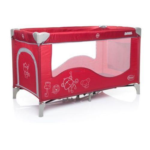 4baby łóżeczko turystyczne jednopoziomowe royal czerwone