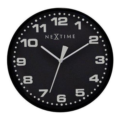 Nextime Zegar ścienny dash czarny (8717713006565)