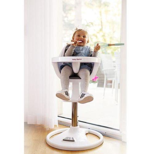 Wysokie obrotowe krzesełko do karmienia flora - różowe marki Moby system