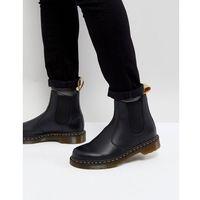 Dr martens vegan 2976 chelsea boots in black smooth - black