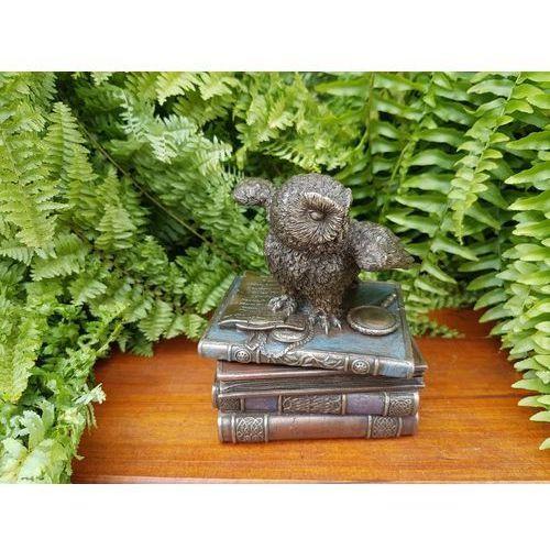 Veronese Śnieżna sowa na książkach szkatułka (wu75511a4)