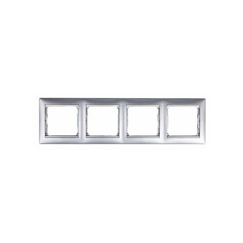 Ramka poczwórna Legrand Valena 770154 pozioma aluminium, kolor srebrny