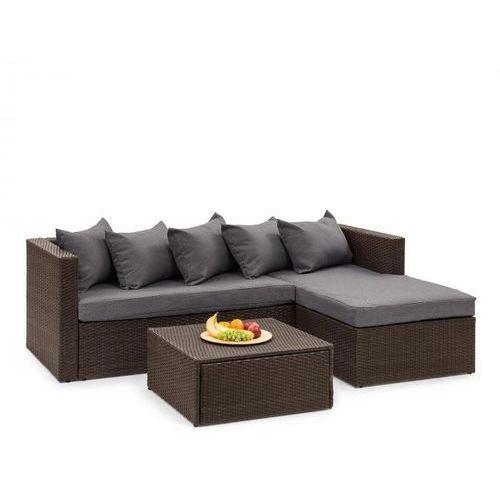 theia lounge ogrodowy zestaw wypoczynkowy brązowy / ciemnoszary marki Blumfeldt
