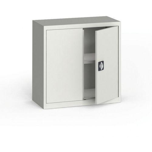 Szafa metalowa, 800 x 800 x 400 mm, 1 półka, szara/szara marki Kovona