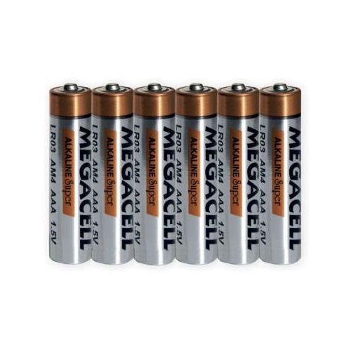 6 x bateria alkaliczna megacell lr03 aaa marki Duracell