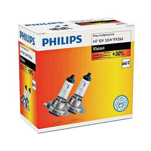 żarówki samochodowe vision h7, 12 v, 55 w (2 szt.) marki Philips