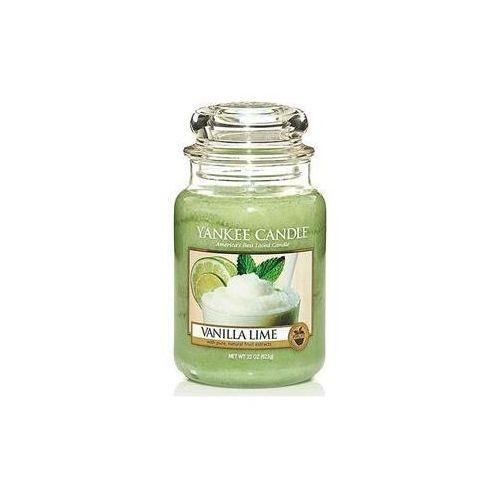 Yankee Candle Vanilla Lime aromatyczna świeca zapachowa słoik duży 623 g, 11130