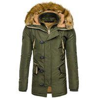 Khaki kurtka męska zimowa parka Denley 3150 - KHAKI