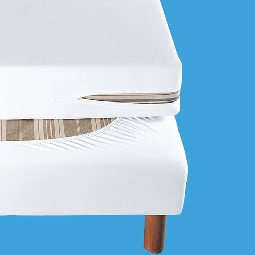 La redoute interieurs Pokrowiec na tapicerowaną ramę łóżka z dżerseju z wykończeniem antyroztoczowym