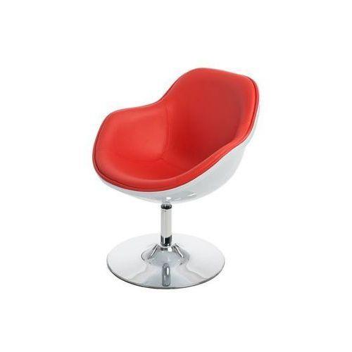 D2design Fotel pezzo (biało-czerwony) d2 (5902385723763)