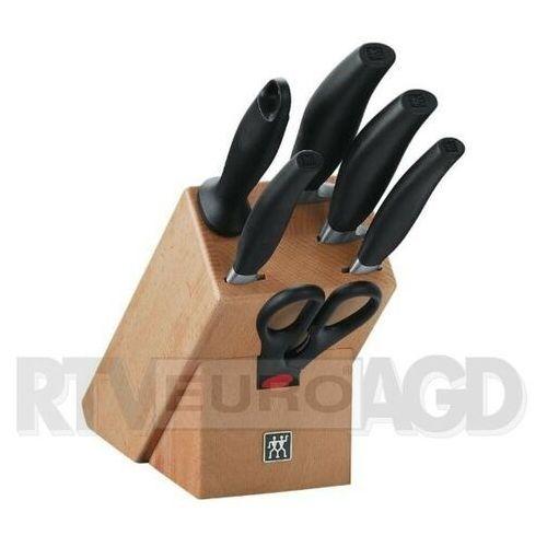- five star - drewniany blok z 4 nożami, ostrzałką i nożyczkami marki Zwilling