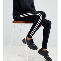 tall super skinny joggers with side stripe taping in black - black, Asos design, S-L