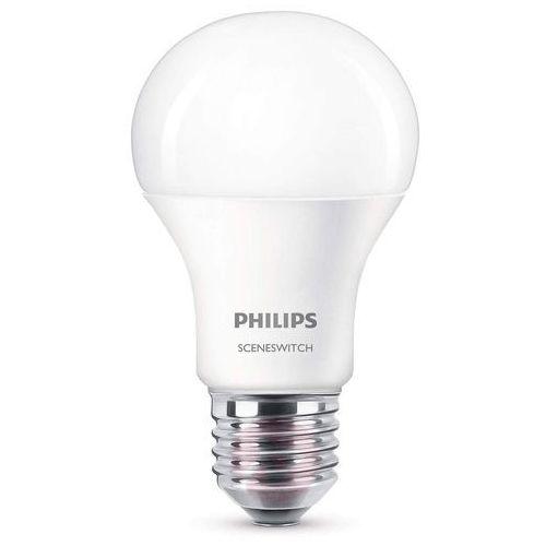 Żarówka LED Scene Switch E27 9,5 W, matowa, 8718696598375