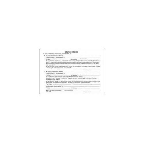 Oświadczenie pacjenta [Mz/Og-3], 47535