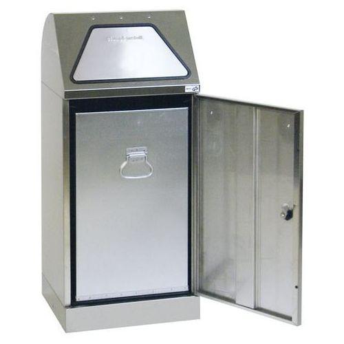 Stumpf-metall Systemowy pojemnik na surowce wtórne, klapa wrzutowa, uruchamiana ręcznie, ze zb