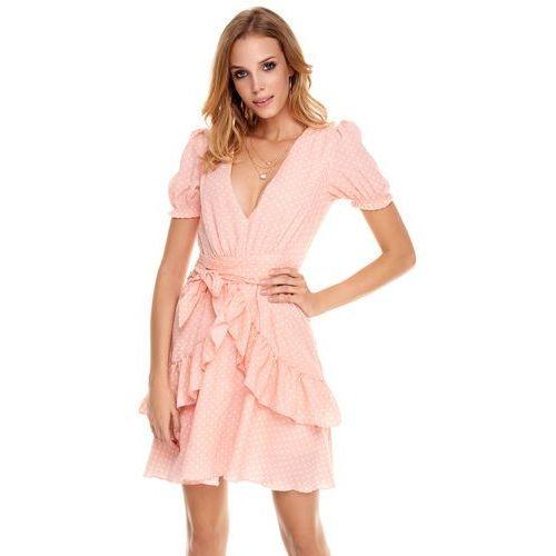 e884b8be80 Sukienka erica brzoskwiniowa w groszki marki Sugarfree