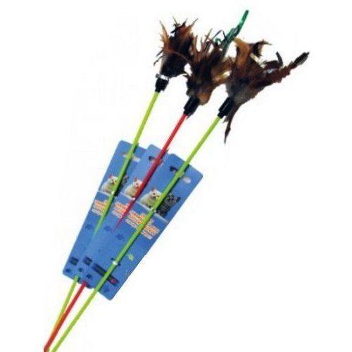 Yarro zabawka patyk z piórkiem [y0209] (5901436102090)