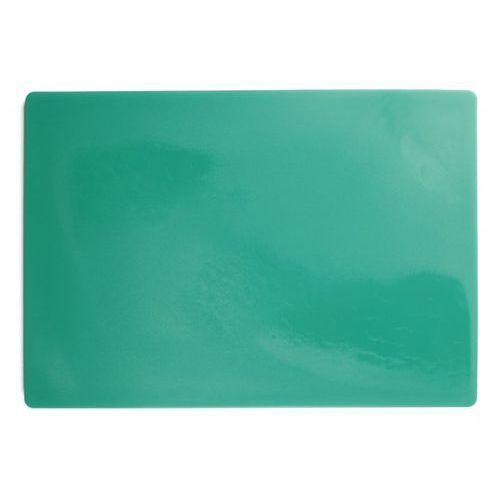 Deska polietylenowa HDPE do krojenia, HACCP, zielona, wymiary 49,5x35x2 cm, XANTIA 78558