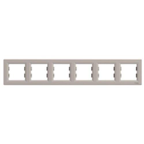 Ramka sześciokrotna Schneider Asfora EPH5800669 pozioma brąz, EPH5800669