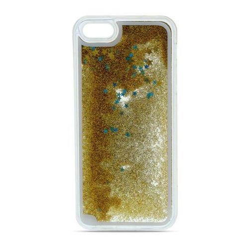 Silikonowa nakładka Liquid Glitter do Samsung Galaxy A5 2016 A510 złota