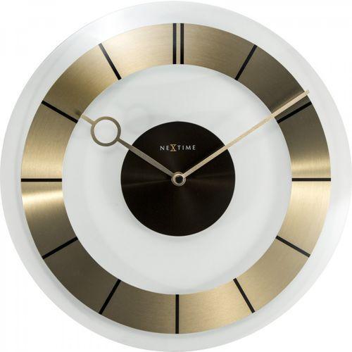 Nextime Zegar ścienny retro złoty (8717713018018)