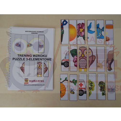 """Kreatywna książka """" trening wzroku- puzzle 3- elementowe"""" marki Bystra sowa"""