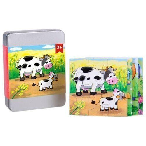 Puzzle drewniane w pudełku, Zwierzęta, 5_558112