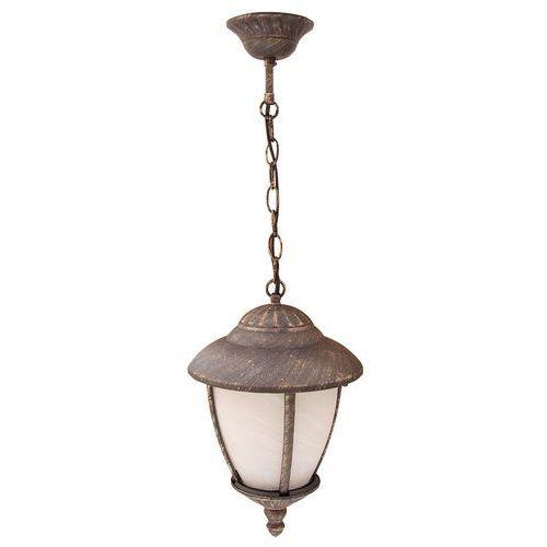 Lampa wisząca zewnętrzna ogrodowa madrid 1x60w e27 ip43 antyczne złoto/biały 8479 marki Rabalux
