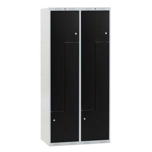 Szafa classic typu z, 2 moduły, 4 drzwi, 1740x800x550 mm, niebieski marki Aj produkty