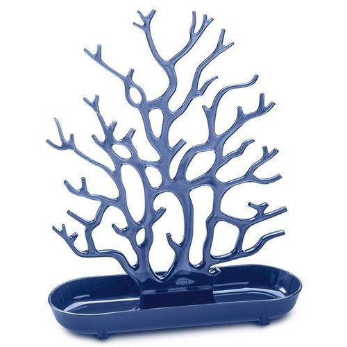 Koziol Stojak na biżuterię cora welwetowy błękit