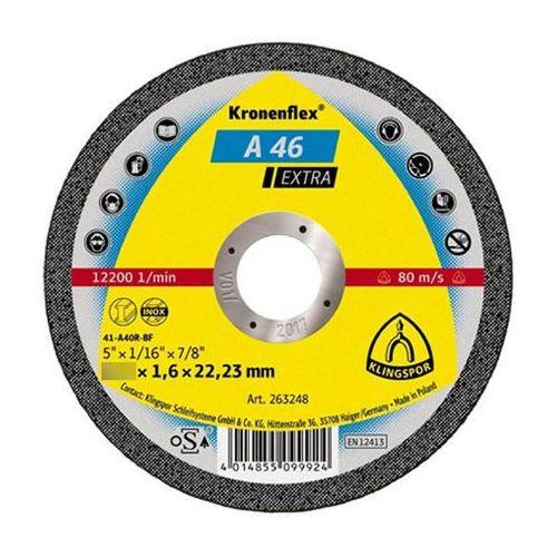 Tarcza do cięcia kronenflex a 46 extra 125 x 1,6 x 22 mm płaska marki Klingspor