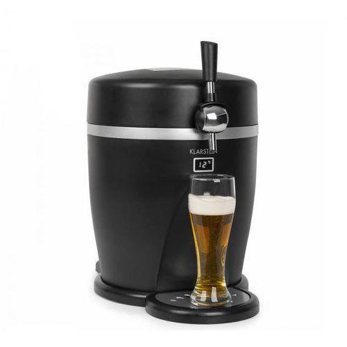 Klarstein tap2go, mobilny dystrybutor piwa 2 w 1 z lodówką na napoje, 5 l / 13 l, czarny