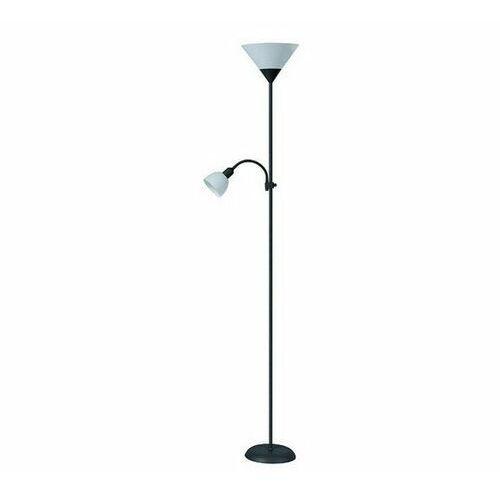 Lampa stojąca podłogowa Rabalux Action 1x100W E27 + 1x25W E14 czarna / biała 4062 (5998250340623)