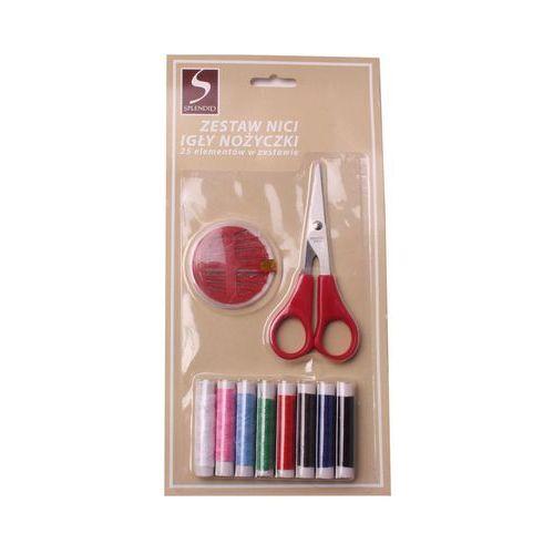Zestaw do szycia nici, igły i nożyczki marki Uniglob