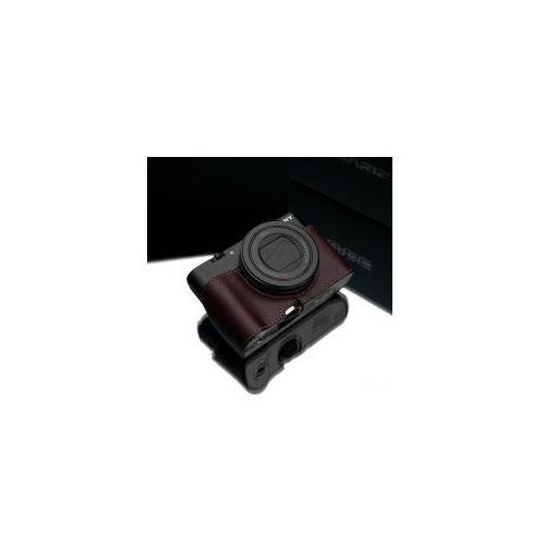 Halfcase z naturalnej skóry w kolorze brązowym dedykowany do Sony RX100M3/M4/M5, HG-RX100M3BR