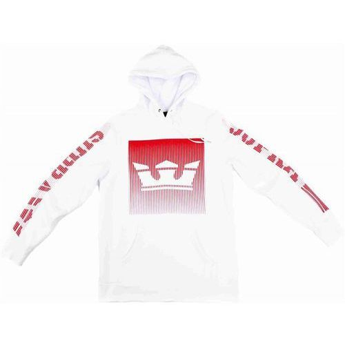 bluza SUPRA - Crown Fade Pull Over Hooded Fleece White (100), kolor biały