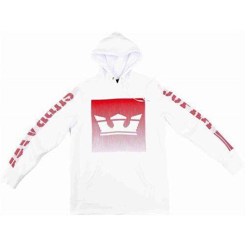 Supra Bluza - crown fade pull over hooded fleece white (100) rozmiar: m