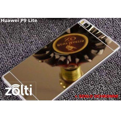 Zestaw   Slim Mirror Case Złoty + Szkło ochronne Perfect Glass   Etui dla Huawei P9 Lite, kup u jednego z partnerów