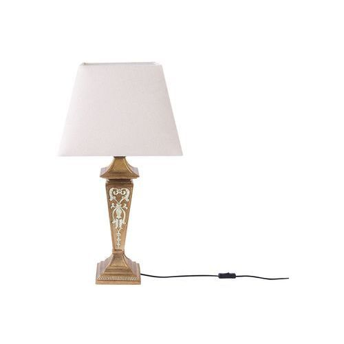 Lampa stołowa beżowa 76 cm BADDANA