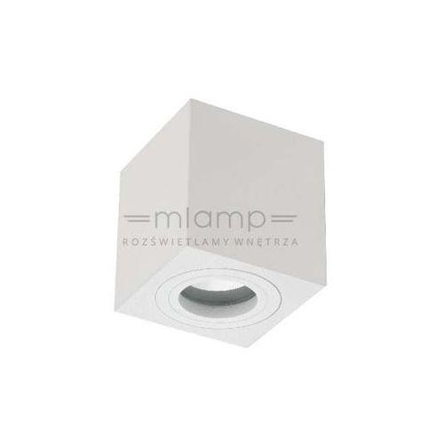 Spot LAMPA sufitowa LAGO bianco IP44 Orlicki Design metalowa OPRAWA kostka cube biała, kolor Biały