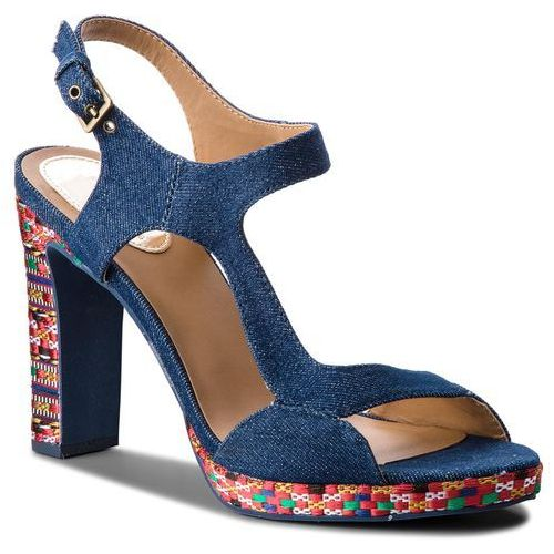 Desigual Sandały - shoes marilyn ethnic denim 18sssd02 5053