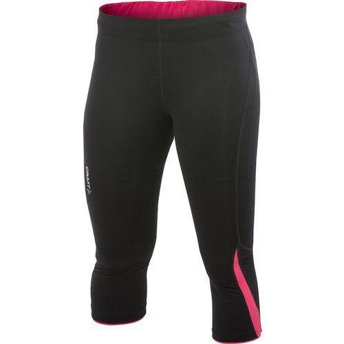 prime capri - damskie spodnie 3/4 (czarno-różowy) marki Craft