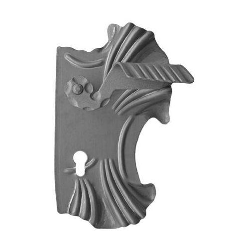 Klamka z szyldem 285x160, t2, a90, d20mm