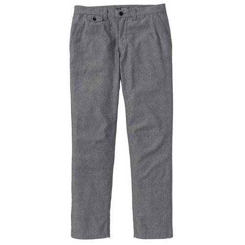 Spodnie chino regular fit szary wzorzysty marki Bonprix